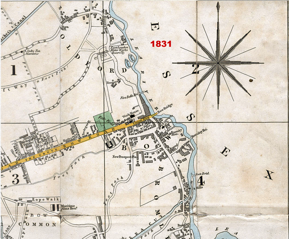 Map of Bow from 1831