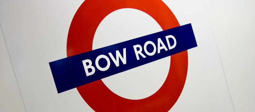 Bow Road Underground sign