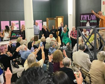 The Women's Hall at the Tower Hamlets Borough Archives was packed for the launch of Kate Thompson's new book: The Stepney Doorstep Society