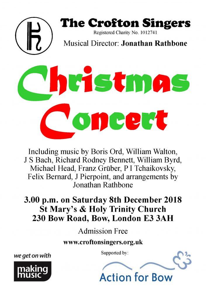 Concert Handbill Bow Church