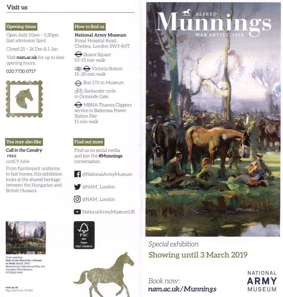 Munnings leaflet