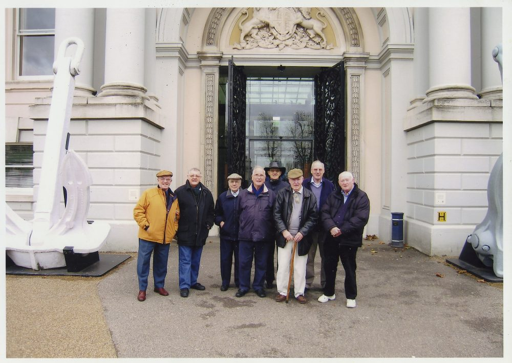 Terry Bloomfield on an outing to the national maritime Museum with some of the Geezer