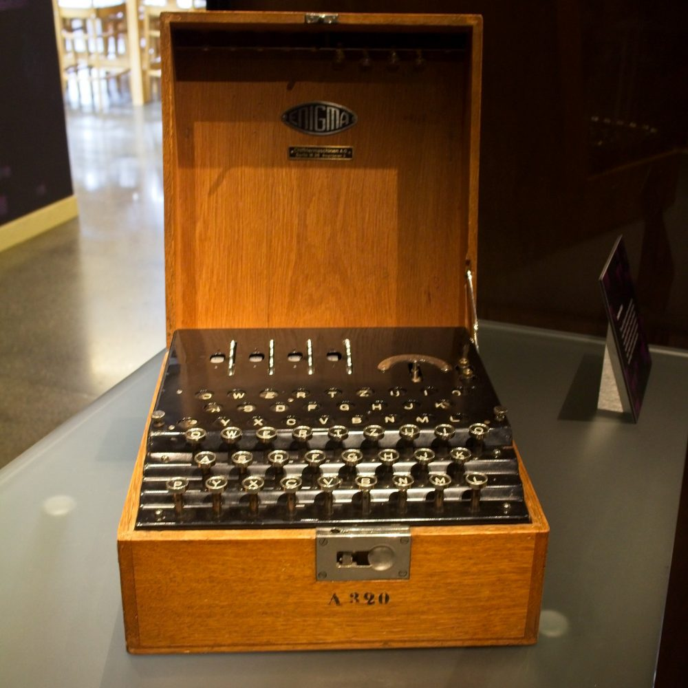 Early Enigma machine produced for banks. Bought by British security services in 1926