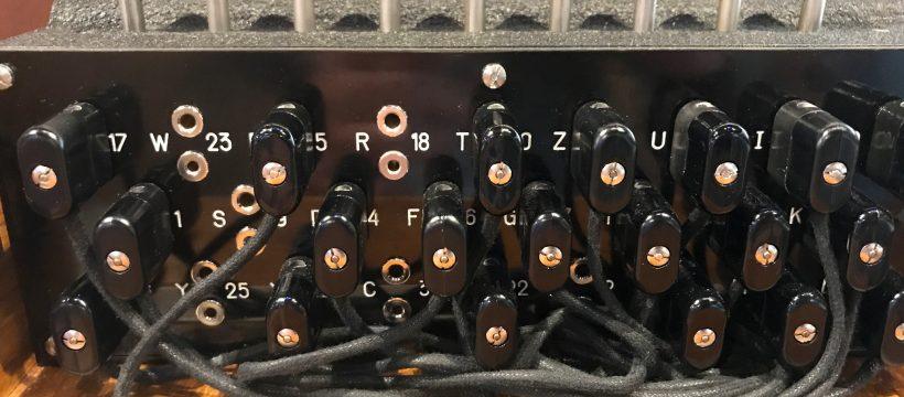 The plugboard on an Enigma Machine