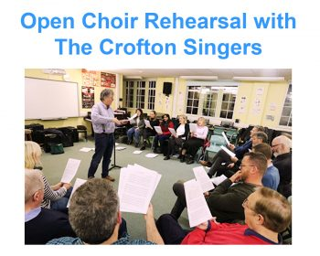 Crofton Singers rehearsal