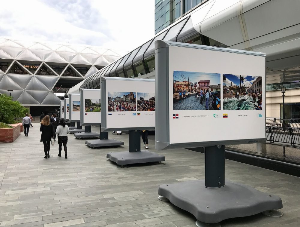 Crossrail Place - part of Streets of the World - outdoor exhibition at Canary Wharf of photos by Jeroen Swolfs