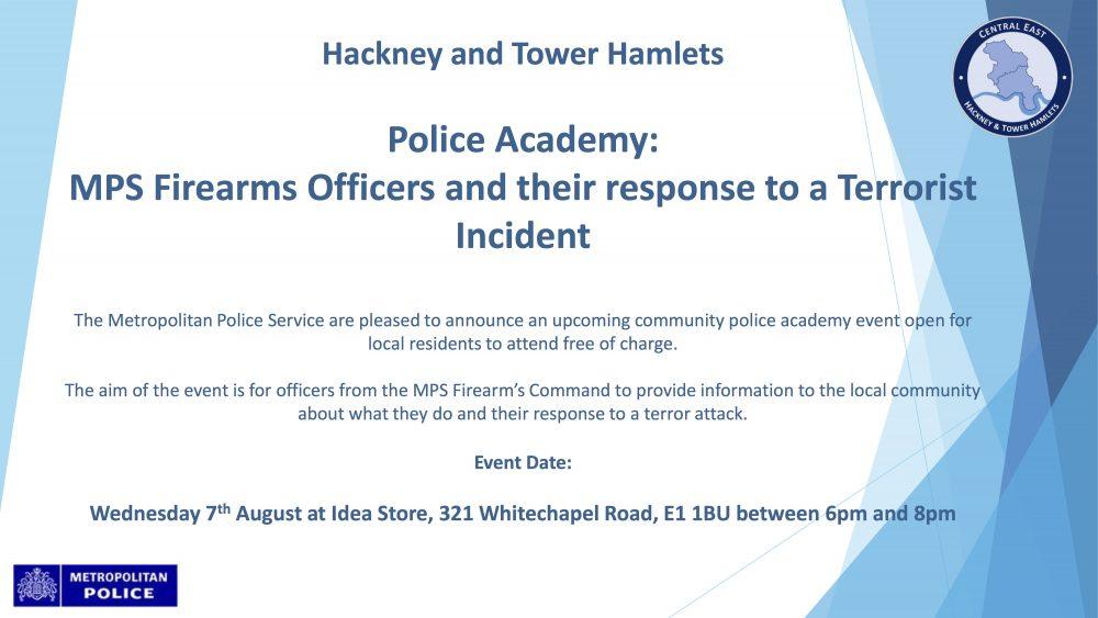 Met Police firearms talk