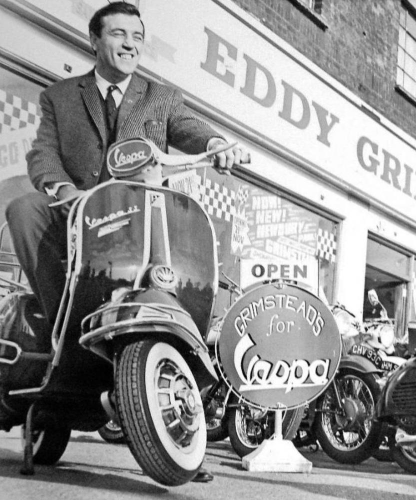 Eddy Grimstead Outside the Barking Road shop