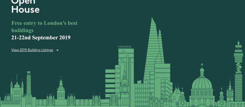 Open House London Sept 21-22