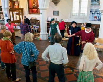 Learning the dance for Tudor Sights and Sounds at Bow Church