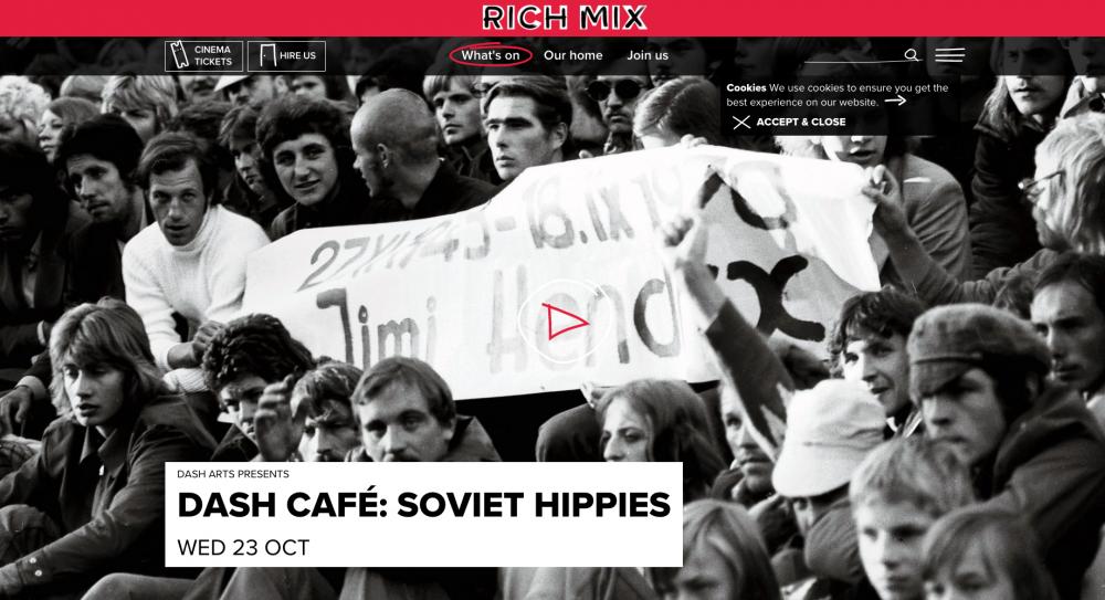 Soviet Hippies film at the Rich Mix