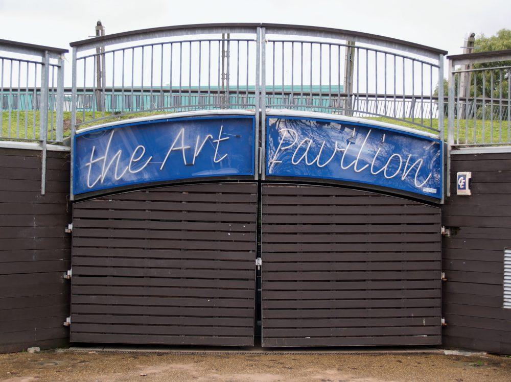 Mile End park Arts Pavilion, closed