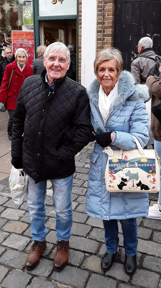 Geezers member Roy Feltwell and his wife Joy at Rochester