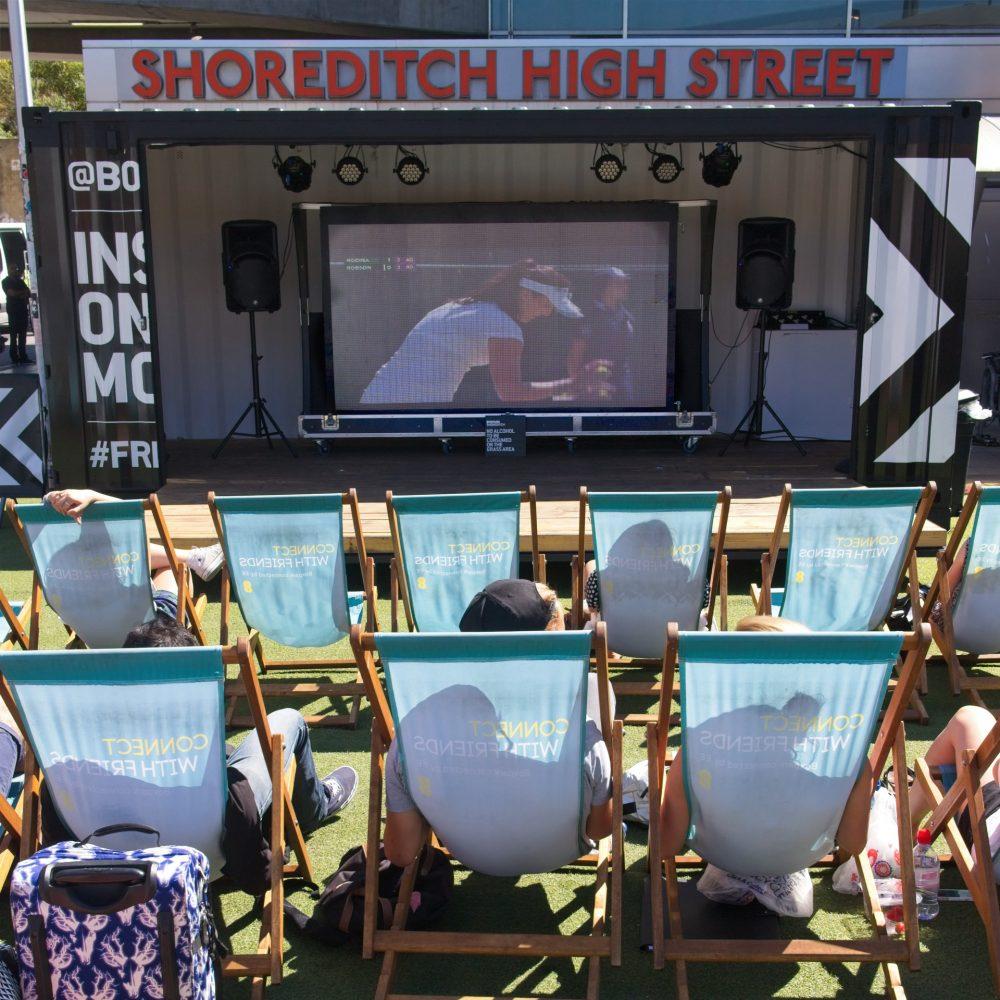 Watching Wimbledon. Shopping is more fun at Shoreditch