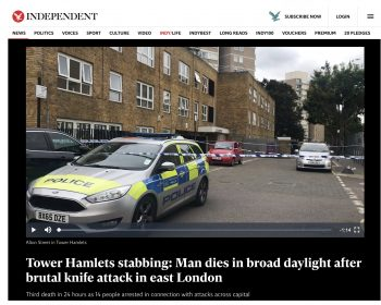 Independent News - Tower Hamlets stabbings