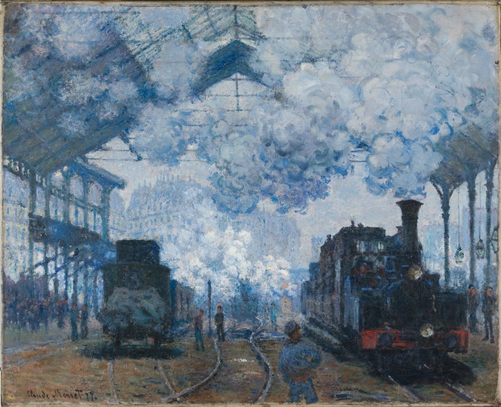 The Gare Saint-Lazare Arrival of a Train - by Monet