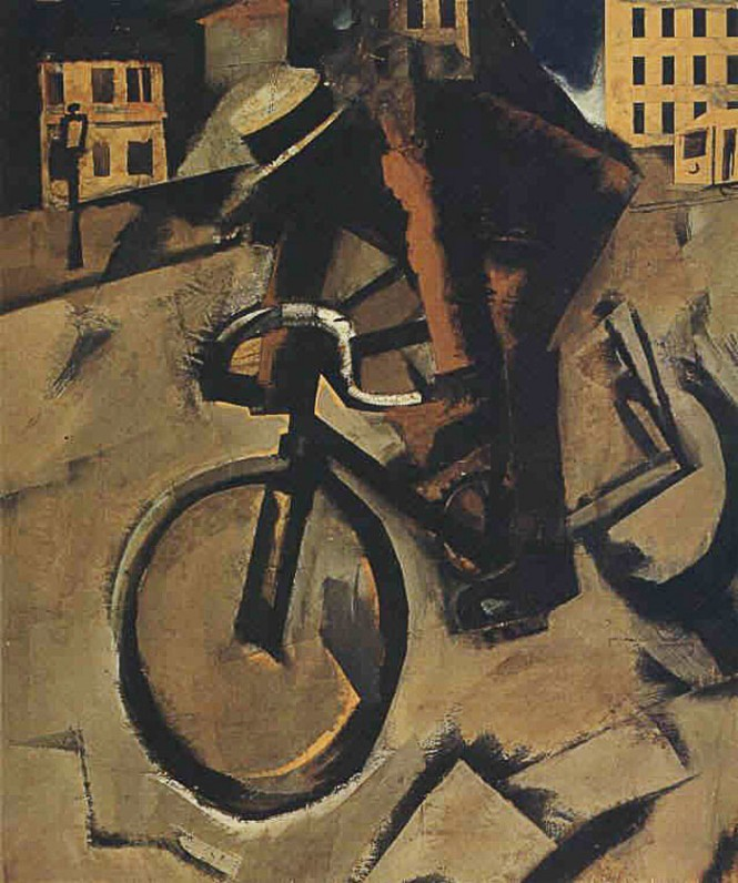 The Cyclist, 1916, by Mario Sironi. Courtesy Gaetani collection, Rome