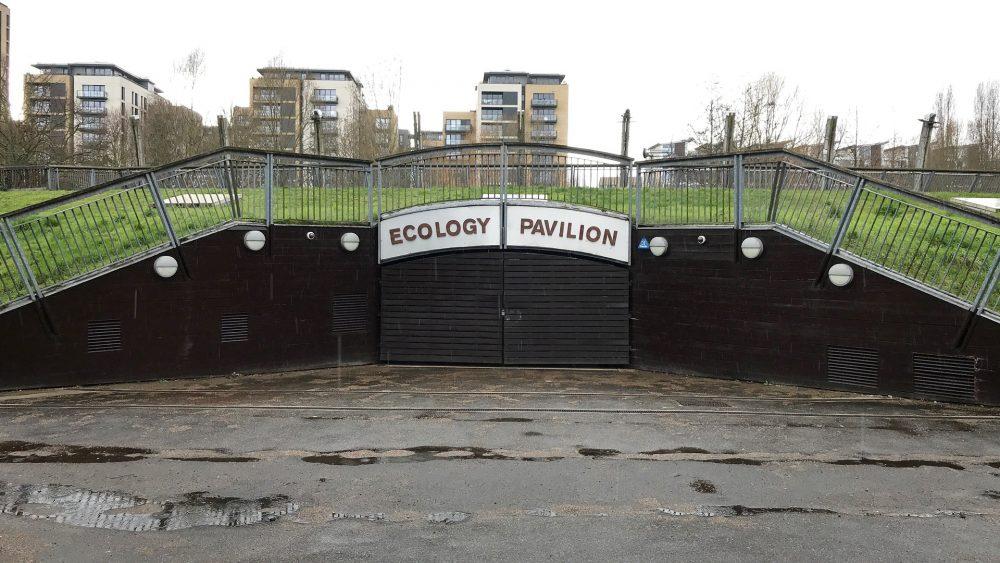 The Ecology Pavilion, closed. Mile End Park