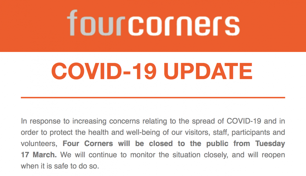 Four Corners Bethnal Green Covid- 19 update