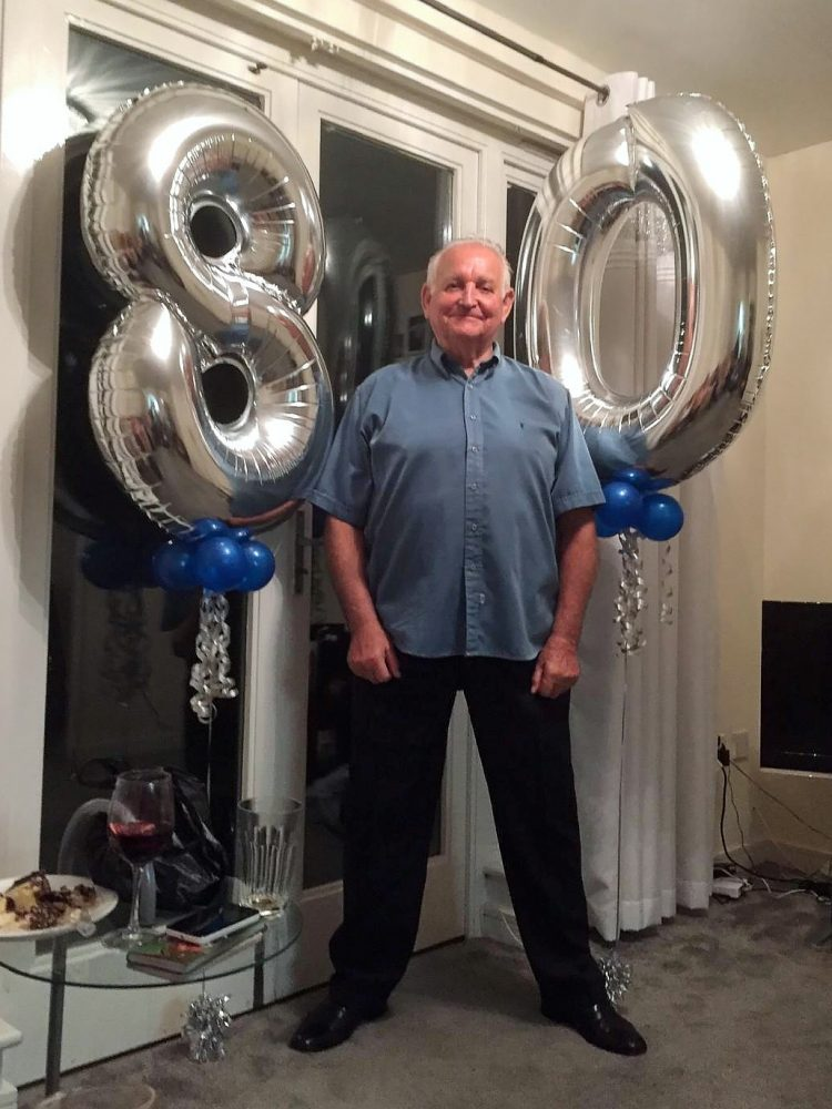 Don Tomlin celebrating his 80th Birthday, which was on 30th Sept 2019