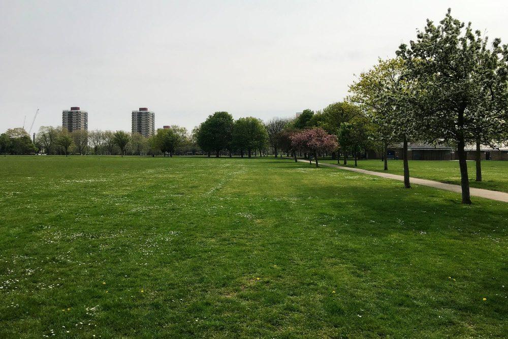 Victoria Park London E3. Quiet during coronavirus