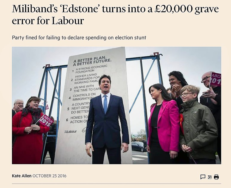The Edstone - Financial Times 25 Oct 2016