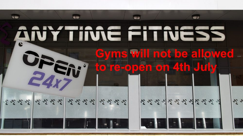 Anytime Fitness in Gladstone Place Bow is not allowed to re-open on 4th July 2020