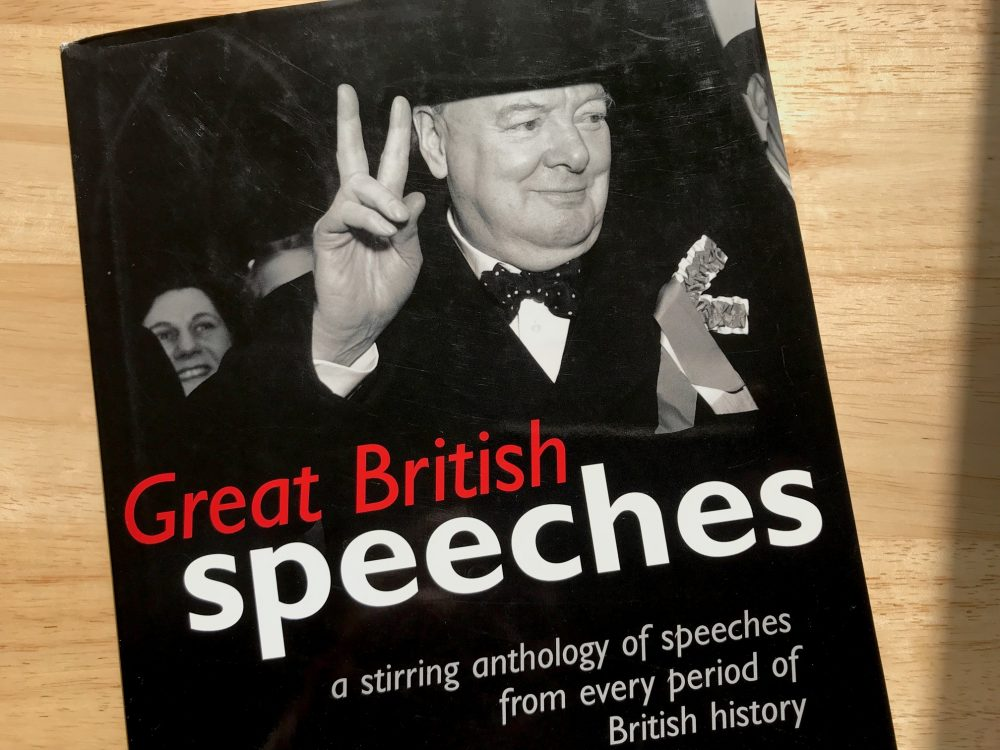 Book cover - Great British Speeches by Simon Heffer