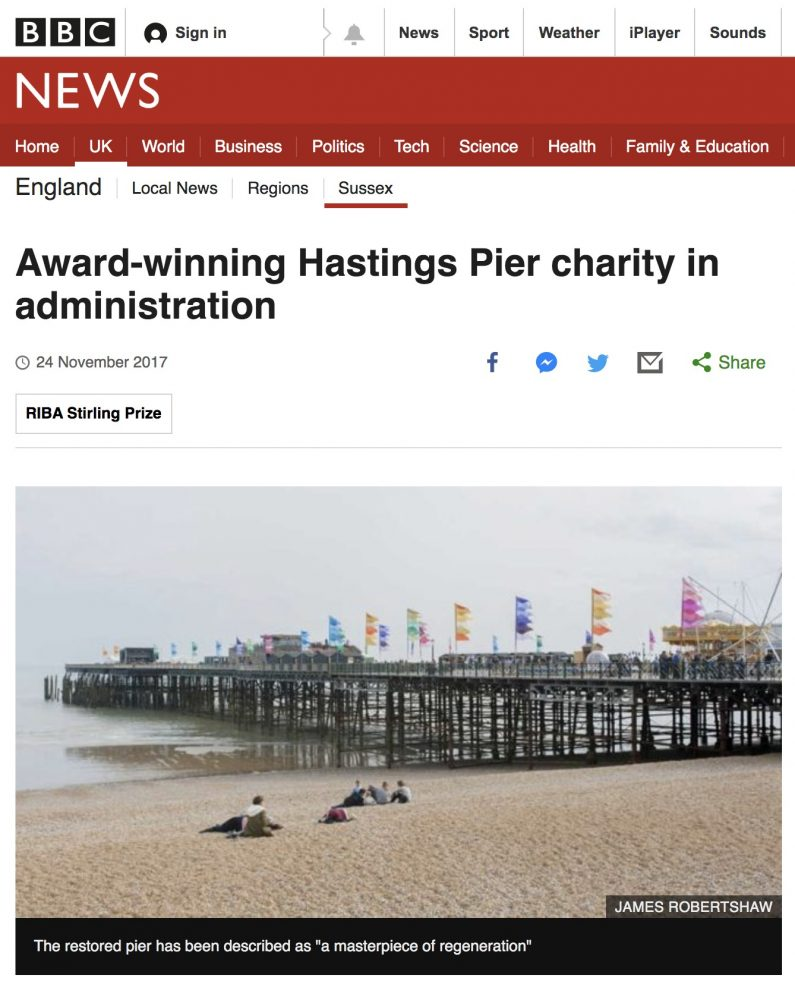 Hastings Pier in Administration BBC News