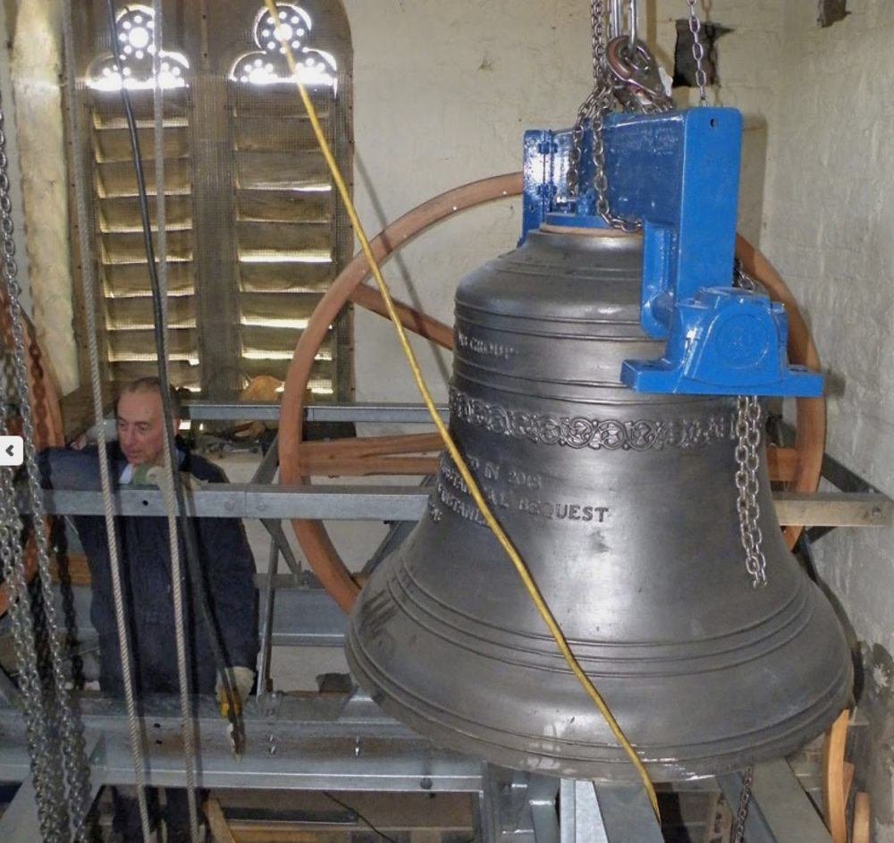 New Westley bell at All Saints, Loughton, Buckinghamshire