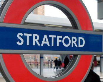 Stratford Underground sign