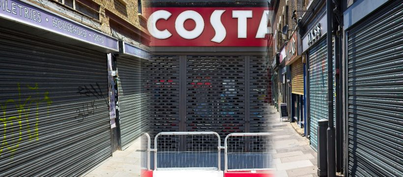 shuttered shops Roman Road Bow