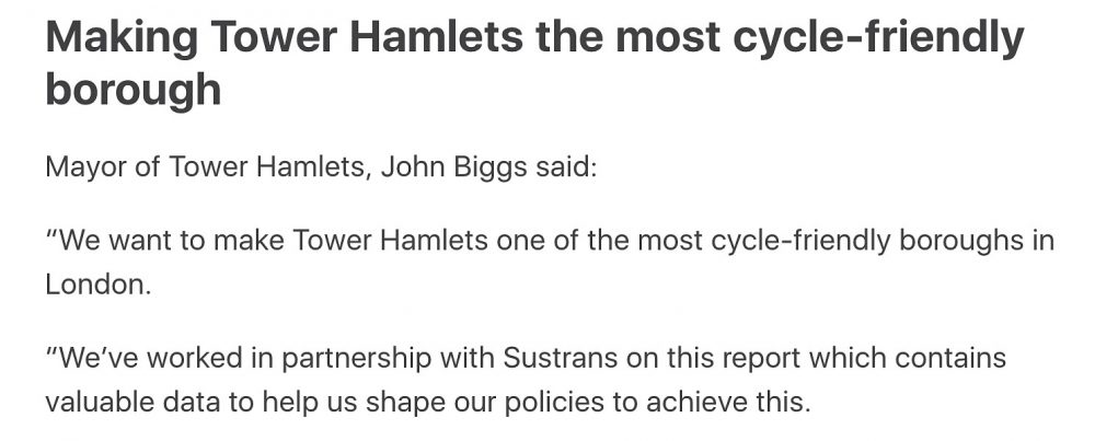 John Biggs working in partnership with Sustrans