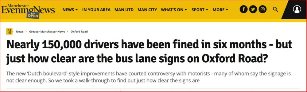 150,000 fines in 6 months. Manchester Evening News 24th Feb 2018