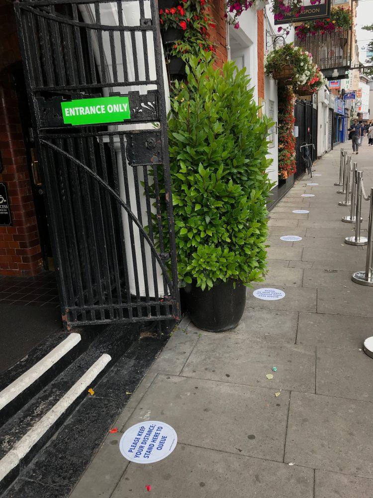 No queue at the Half Moon