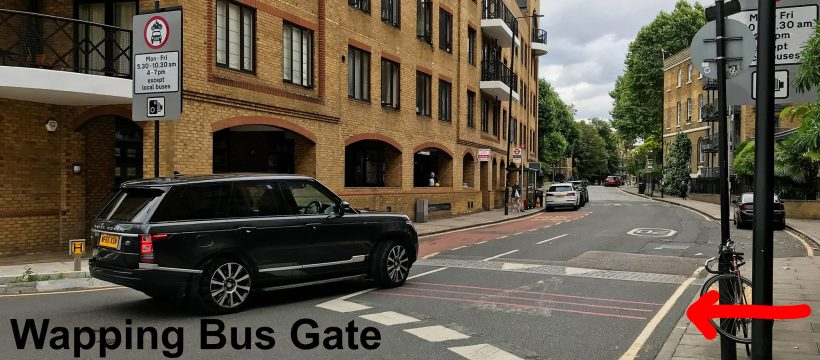 Wapping Bus Gate. It looks nothing like a gate