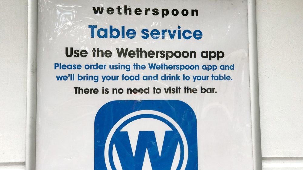 Wetherspoons app Half Moon
