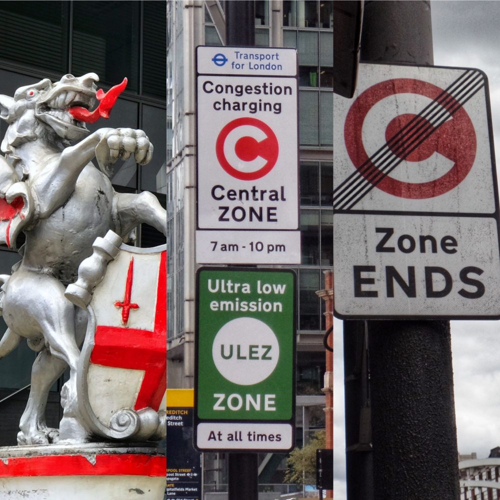 Congestion charge signs