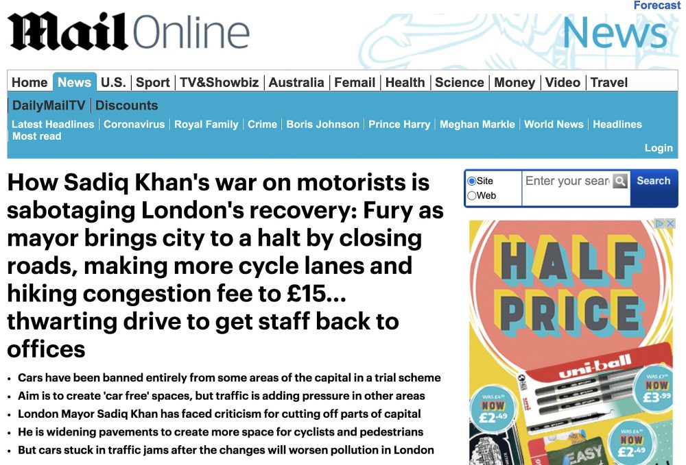 Sadiq Khan's war on motorists