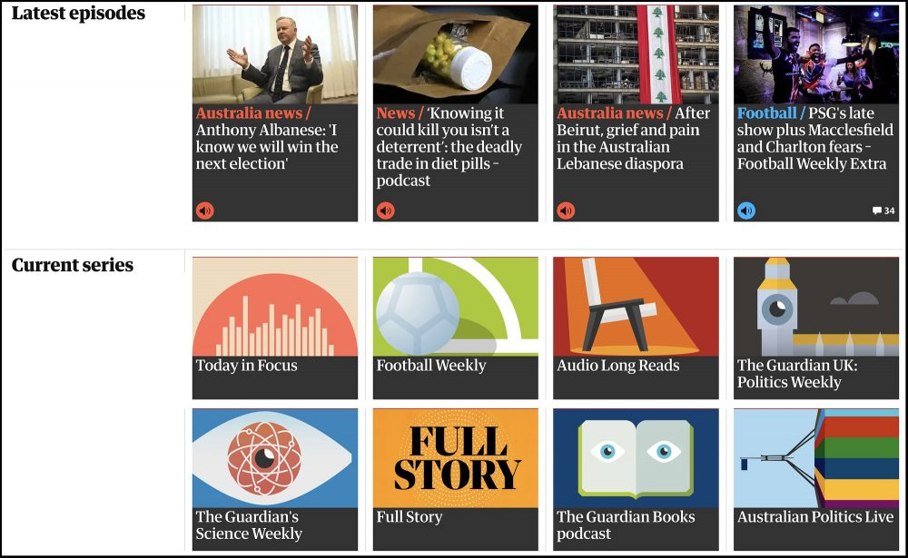 The Guardian has been podcasting for 10 years