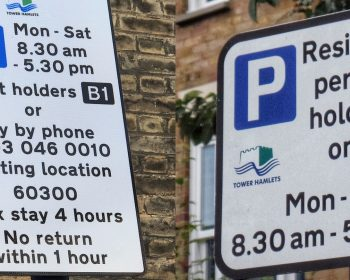B1 & B2 parking signs in Bow
