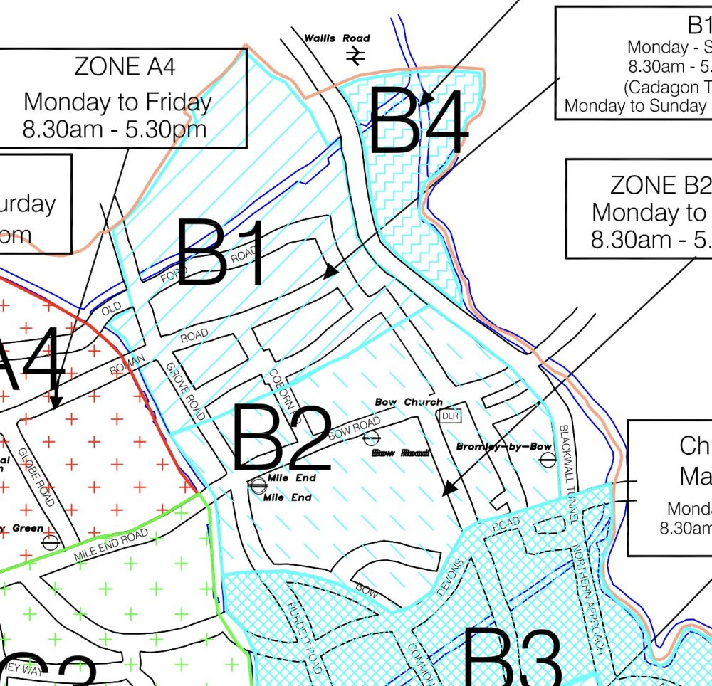 Current Bow Parking Zones