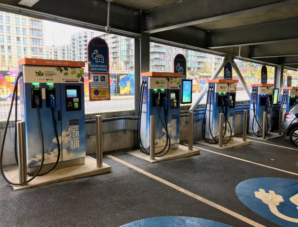Osprey Rapid electric car chargers, Stratford City