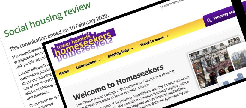 Social Housing Policy in Tower Hamlets