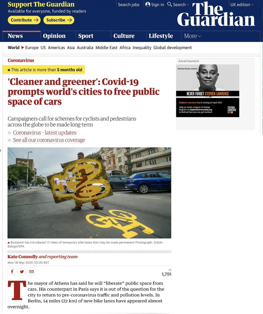 Cleaner Greener Cities The Guardian