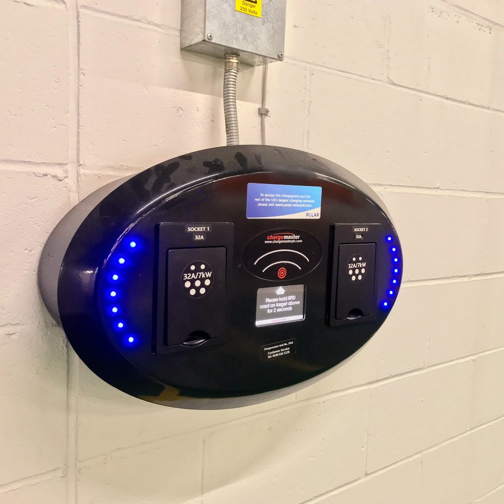 7 kWh Chargemaster wallbox Canary Wharf