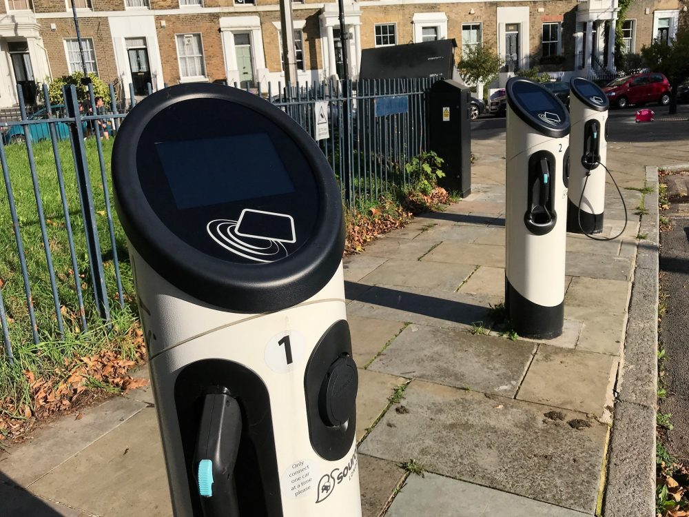 Source London car chargers St Marks Gate