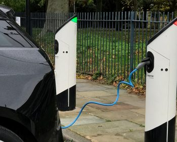 Source electric car chargers at St Marks Gate, Bow
