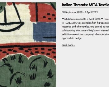Italian Threads at Estorick Collection