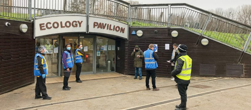 Walk-in Covid testing at Ecology Pavilion Bow, London E3